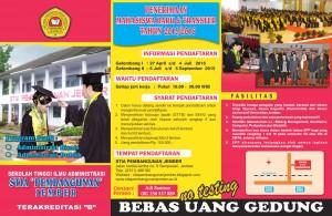 brosur mahasiswa stia pembangunan 2015